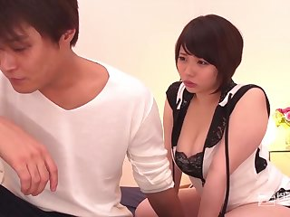 Japanese gal, Miu Yuuki is property her coochie ate and crammed on every side with a stiff boner