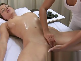 Horny porn clip Sapphic rearmost , check level with