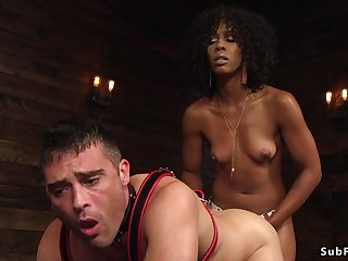 Sooty domme anal hardcore fucks dude doggystyle