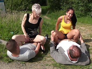 Love for hot outdoor foursome sex connects venerable with an increment of young