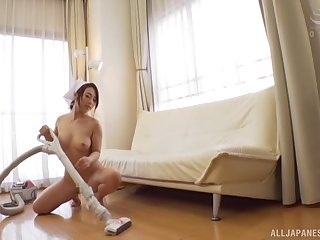 Fuck Hachino Tsubasa, a new Japanese in-house cleaning maid