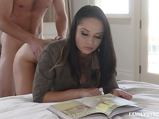 Hot busty Russian cowgirl Crystal Rush is fucked missionary mood