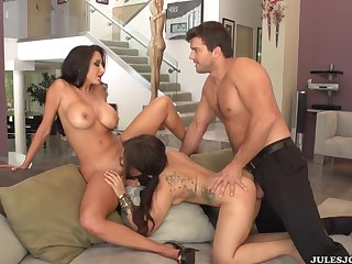 Two Milfs Get Arse Got Laid In A Threesome - ava adams