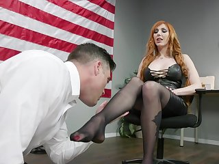 Sexy congresswoman Lauren Phillips puts greater than strapon and fucks greater than dutiful lady's man