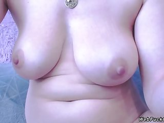 Busty amateur anal fisting on cam