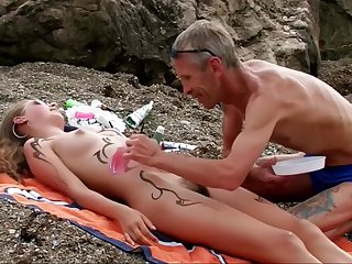 Girls at bottom a catch Beach with Hairy Pussy. Accoutrement 1