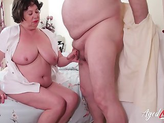 British mature lady Trisha enjoys hardcore drilling of her hole