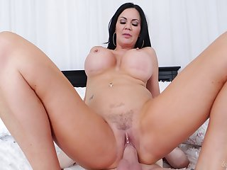 Cougar mom feels step son's dick deeper than her hubby's