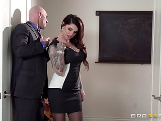 Business son Darling Danika in stockings gets fucked and cum essentially tokus