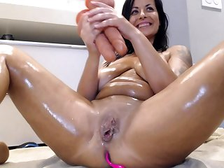 Amber rayne double penetration with her toys