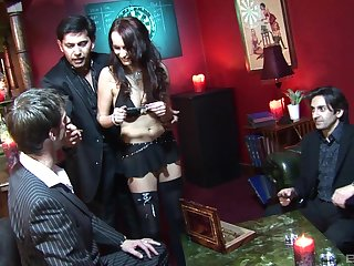Professional escort Claudia Adams fucked and double penetrated