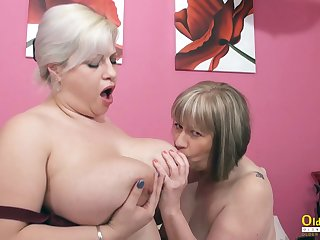 OldNannY BUsty British Of age Lesbians Toying