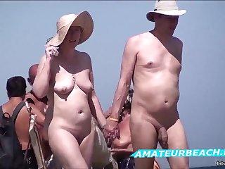 Beach Voyeur Amateur Sex Public In one's birthday suit Beach Compilation Video