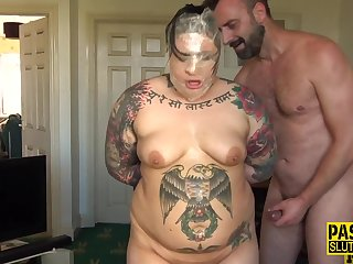 Obese dominated skank smudged Pascal White