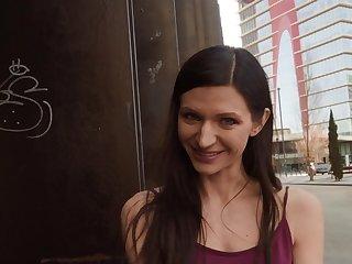Arousing unintended public hookup for sexy brunette Arian Joy