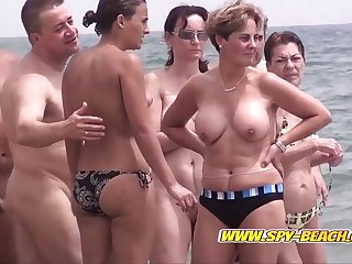 Hidden cam on a Spanish nudist beach
