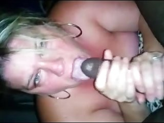 Blonde milf suck black locate sick with cum greater than mouth