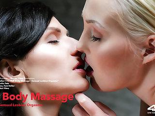 Full Body Massage Episode 1 - Sensual Lesbian Orgasms - Arian & Lovita Fate - VivThomas
