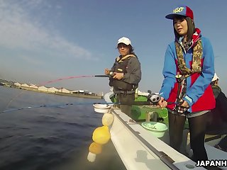 Japanese sailor Sena Sakura gives a blwojob with the addition of gets fucked on a fabliau boat