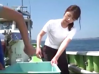 Japanese Girl Fucked In Boat By Fisherman Hard Cock