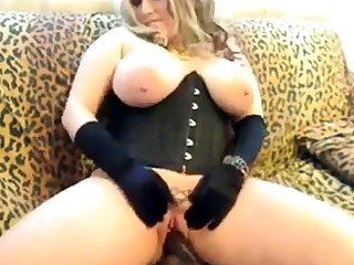 A Primer - Chubby beauteous saggy tits corset black dildo fuck