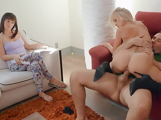 Left alone husband calls on escort Brandi Love to help him out