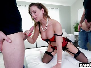 Innovative and hardcore double cock penetration for malleable Cherie Deville
