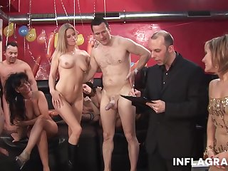 An Amazing orgy at a sex game show