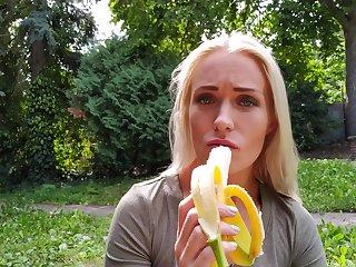 Sweet girlfriend Angelika Grays loves giving head before having sex