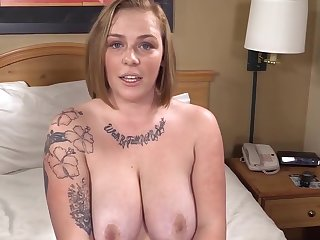 Busty Phat Strawberry Blonde is Surprised & Gets her 1st Fat Jet Cock!