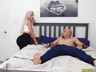 Premium oral amusement on her sister's boyfriend big dick