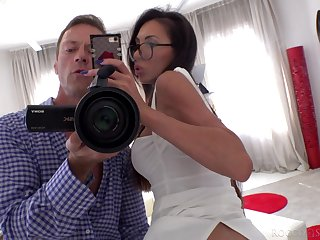 Busty unilluminated goes nuts space fully fucking Rocco Siffredi