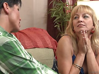 Accurate lesbian sex between matures Cindy Craves and Shay Fox