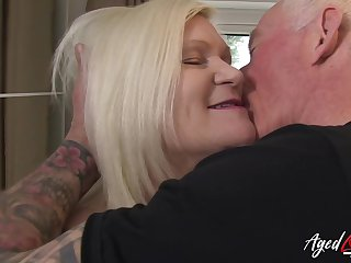 Hardcore sexual connection featuring famous busty british mature and tatooed scalding man far action