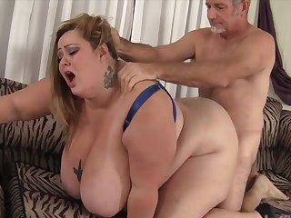 Big titty BBWs taking indestructible dicks in their indiscretion and finish amazing blowjobs