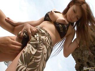 Nice tits Japanese chick Arisa Kuroki enjoys getting fucked good