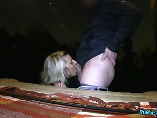Blonde Is Desperate for a Ride