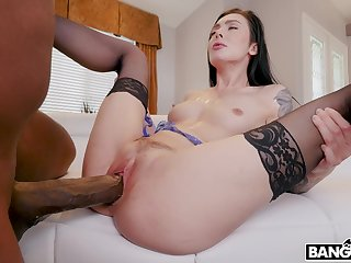 Nefarious timber with a massive detect fucks juicy pussy of Marley Brinx