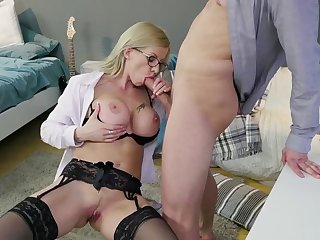 Sexy teacher has lovemaking upon a student